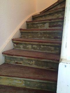Treppen mit Ochsenblut schleifen